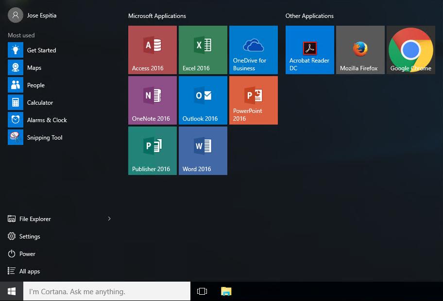 Customize a Windows 10 Start Layout - Jose Espitia