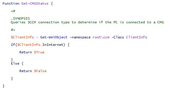 Get-CMGStatus Function